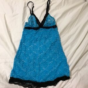 Rampage slip lingerie negligee lace chemise medium